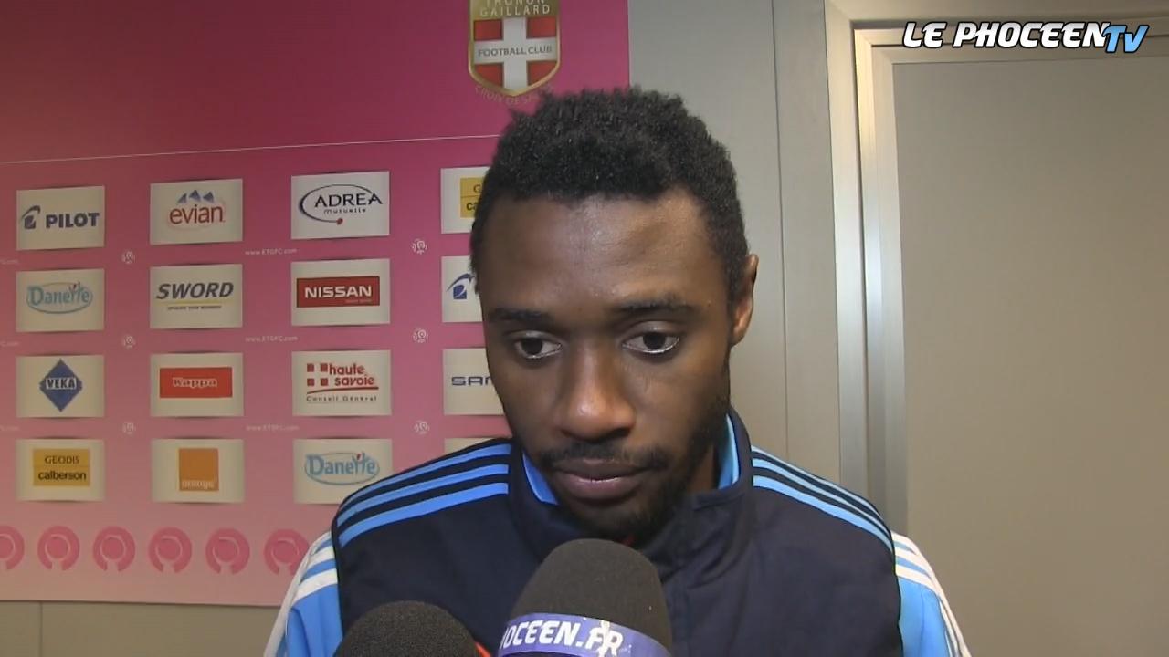 Evian TG 1-1 OM : la réaction de Nkoulou