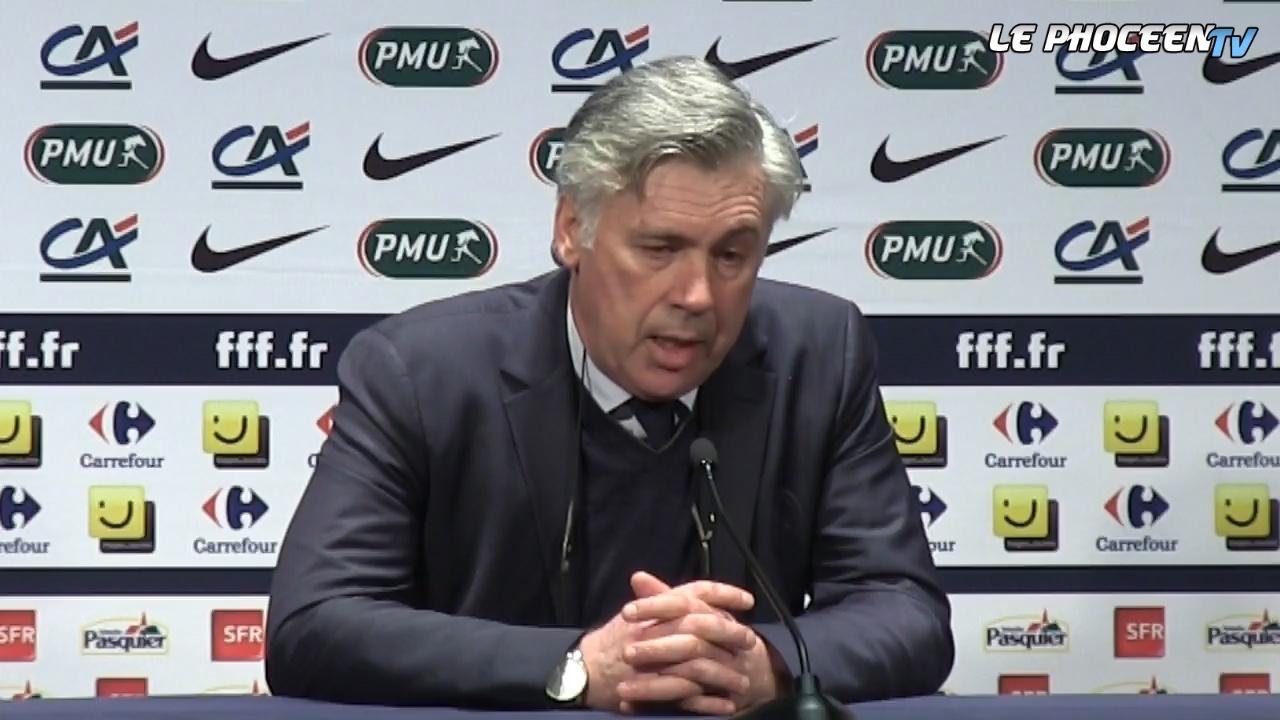 PSG 2-0 OM : la réaction d'Ancelotti