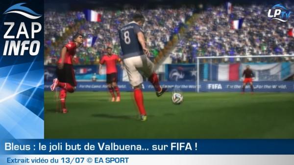 Zap : le joli but de Valbuena, sur Fifa !