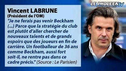 Info Chrono : Labrune parle de Beckham