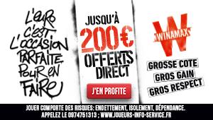 Winamax 200 euros offert